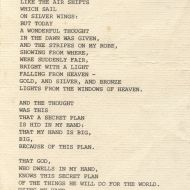 Detail from the back of Sir Fletcher Jone's Funeral Brochure showing a Kagawa poem. Eleanor Anderson loaned the brochure to the FJ Stories Project.