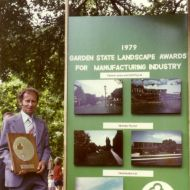 Stan Crowe receiving an award for the FJ Gardens in 1979.  Stan was the curator at the gardens for many years following Darby's death.    Photo: Stan Crowe