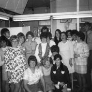 The Cuff Cuties - Trouser Cuff section FJs.  Photo: Colette Harper (front left standing.  Colette worked at FJs for several long periods from 1965 up until 2000).