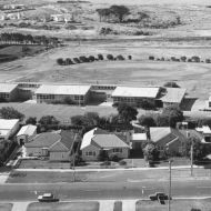 East Warrnambool Primary School from the Silver Ball, December 1972- the kids have gone back inside by the time the photo was taken.   Photo: John Woolf