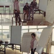 Colette Harper presenting at a Quality Circles Training session for the FJ Mt.Gambier Factory staff.  Photos: Colette Harper