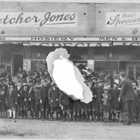 1924 - The first stores leased by FJ in northern Liebig St.  Photo: Jones Family Collection