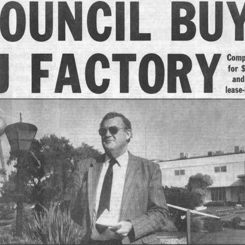 Headline Warrnambool Standard April 28, 1992.  Shared by Lawson Ryan