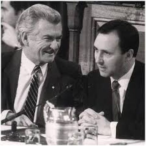Bob Hawke and Paul Keating. Photo:Google commons
