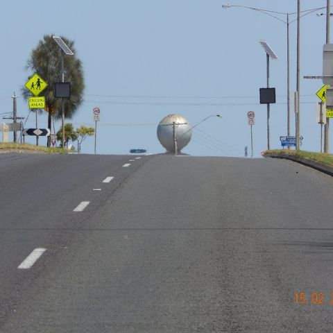 Dale Starick - For this reason alone it should stay! You know you're home when you see that big silver ball rise up out of the highway!