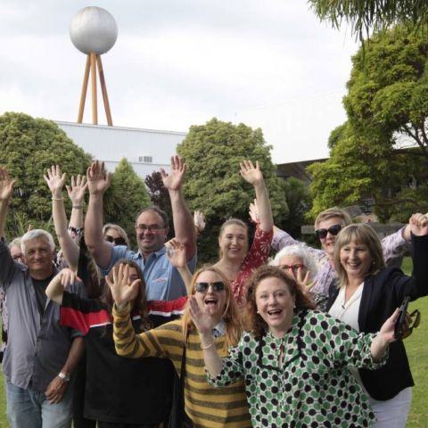 Members of the Save the Silver Ball group show their delight at the Heritage Victoria announcement.  Photo: Warrnambool Standard