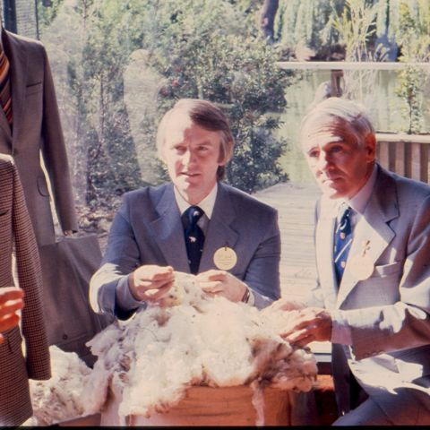 David Jones (left) at launch of Signature concept at Melbourne Zoo Pavilion.  Photo: Jones Family Collection